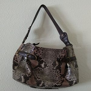 Jessica Simpson Vegan Snakeskin Purse